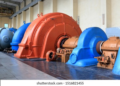 Turbine, generator and pump set in a historic pumped storage pla