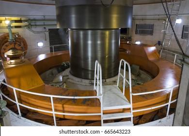 turbine shaft at the itaipu hydroelectric plant - horizontal