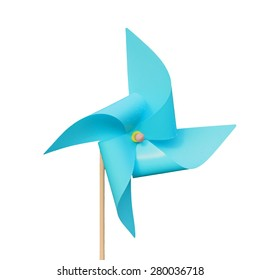 Turbine sky blue color paper isolated on white background. This has clipping path.