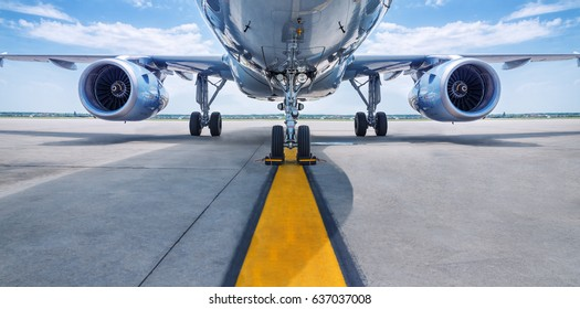 Photo of turbines of an aircraft