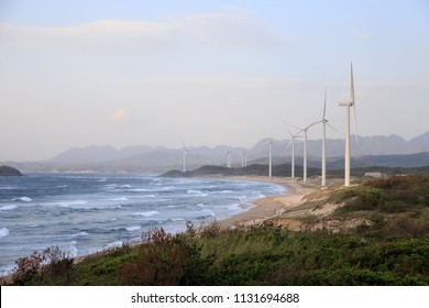 Turbines harness natural power at wind farm on Shimane coast