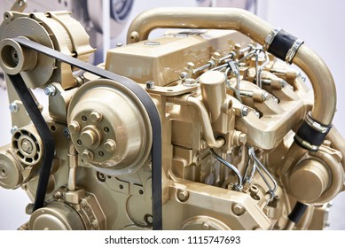 Turbo Diesel Engine on stand