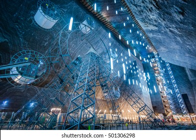 TURDA, ROMANIA - JULY 2015: Salt mine and museum