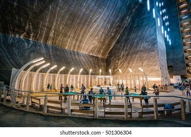 TURDA, ROMANIA - JULY 2015: Salt mine and museum