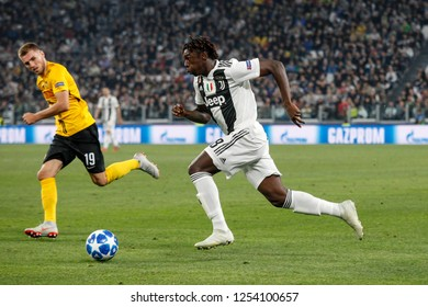 Turin, Italy, 02 October 2018. UEFA Champions League, Juventus vs Young Boys 3-0. Moise Kean, Juventus.