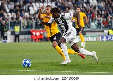 Turin, Italy, 02 October 2018. UEFA Champions League, Juventus vs Young Boys 3-0. Moise Kean, Juventus.