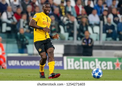 Turin, Italy, 02 October 2018. UEFA Champions League, Juventus vs Young Boys 3-0. Sekou Sanogo, Young Boys.