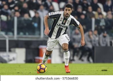 Turin, Italy. 05 Jenuary 2017. Campionato Italiano di SerieA, Juventus vs Inter 1-0. Sami Kedira, Juventus.