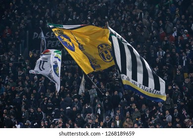 Turin, Italy, 07 December 2018. Campionato Italiano Serie A, Juventus-Inter 1-0. Supporters Juventus.