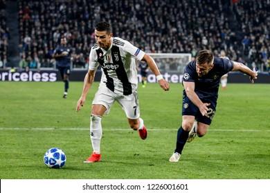 Turin, Italy. 07 November 2018. UEFA Champions League, Juventus vs Manchester United 1-2. Cristiano Ronaldo, Juventus.
