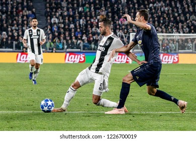 Turin, Italy. 07 November 2018. UEFA Champions League, Juventus vs Manchester United 1-2. Miralem Pjanic, Juventus.