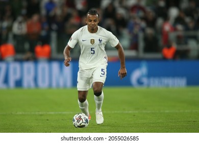 Turin, Italy - 07.10.2021: KOUNDE (FRA) in action during the semifinals Uefa Nations League football match Belgium vs France at Allianz Arena Stadium in Turin on october 07th 2021.