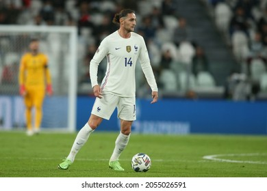 Turin, Italy - 07.10.2021: RABIOT (FRA)  in action during the semifinals Uefa Nations League football match Belgium vs France at Allianz Arena Stadium in Turin on october 07th 2021.