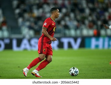 Turin, Italy - 07.10.2021: TIELEMANS (BEL) in action during the semifinals Uefa Nations League football match Belgium vs France at Allianz Arena Stadium in Turin on october 07th 2021.