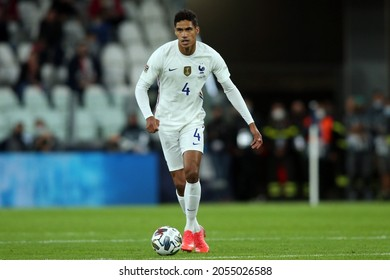 Turin, Italy - 07.10.2021: VARANE (FRA)  in action during the semifinals Uefa Nations League football match Belgium vs France at Allianz Arena Stadium in Turin on october 07th 2021.