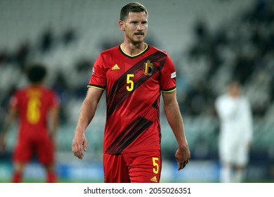 Turin, Italy - 07.10.2021: VERTONGHEN (BEL)  in action during the semifinals Uefa Nations League football match Belgium vs France at Allianz Arena Stadium in Turin on october 07th 2021.