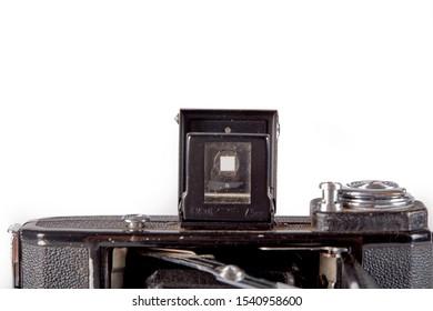 Turin, Italy 10/24/2019 Original camera Zeiss Ikon Nettar 516, release 1940
