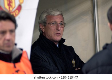 "Turin Italy ,12 March  2003, ""Delle Alpi"" Stadium, UEFA Champions League 2002/2003, FC Juventus- FC Manchester United: The Juventus coach Marcello Lippi before the match"