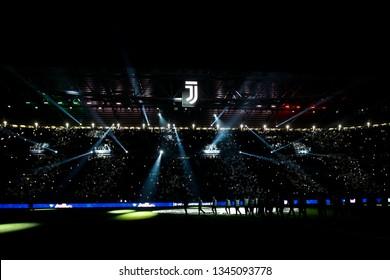 Turin, Italy. 12 March 2019. Uefa Champions League, Juventus vs Atletico Madrid 3-0. Allianz Juventus Stadium