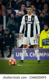 Turin, Italy. 12 March 2019. Uefa Champions League, Juventus vs Atletico Madrid 3-0. Cristiano Ronaldo, Juventus.