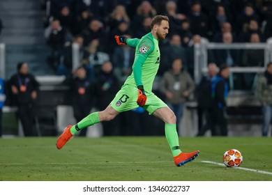 Turin, Italy. 12 March 2019. Uefa Champions League, Juventus vs Atletico Madrid 3-0. Jan Oblak, goalkeeper Atletico Madrid.