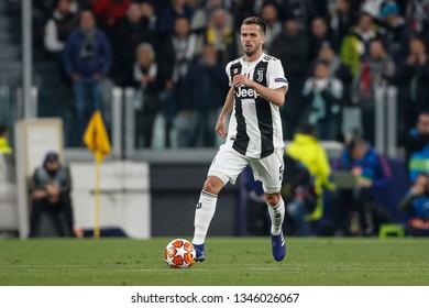 Turin, Italy. 12 March 2019. Uefa Champions League, Juventus vs Atletico Madrid 3-0. Miralem Pjanic, Juventus.