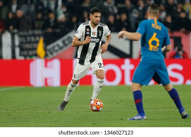Turin, Italy. 12 March 2019. Uefa Champions League, Juventus vs Atletico Madrid 3-0. Emre Can, Juventus.