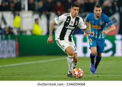 Turin, Italy. 12 March 2019. Uefa Champions League, Juventus vs Atletico Madrid 3-0. Joao Cancelo, Juventus.