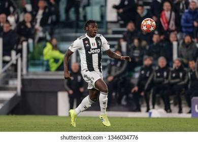 Turin, Italy. 12 March 2019. Uefa Champions League, Juventus vs Atletico Madrid 3-0. Moise Kean, Juventus.