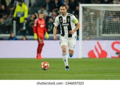 Turin, Italy. 12 March 2019. Uefa Champions League, Juventus vs Atletico Madrid 3-0. Giorgio Chiellini, Juventus.