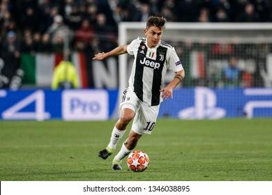 Turin, Italy. 12 March 2019. Uefa Champions League, Juventus vs Atletico Madrid 3-0. Paulo Dybala, Juventus.