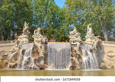 Turin, Italy. The 12 Months Fountain is one of Valentino's most significant architectural works. Created by Carlo Ceppi (1829 - 1921)
