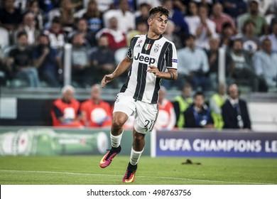 Turin, Italy, 14 September 2016. Football match of Champions League Juventus vs Siviglia 0-0. Paulo Dybala, Juventus.