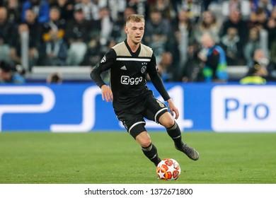 Turin, Italy. 16 April 2019. UEFA Champions League, Juventus vs Ajax 1-2. Daley Sinkgraven, Ajax.