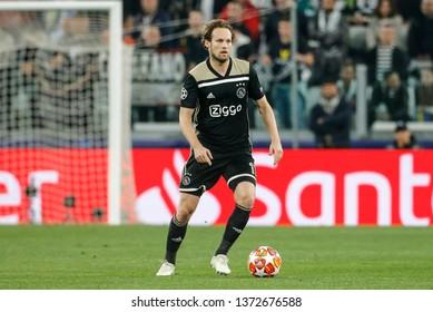 Turin, Italy. 16 April 2019. UEFA Champions League, Juventus vs Ajax 1-2. Daley Blind, Ajax.