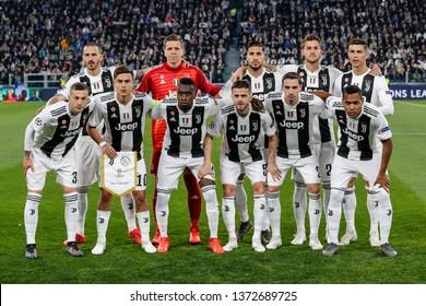 Turin, Italy. 16 April 2019. UEFA Champions League, Juventus vs Ajax 1-2. Juventus Football Club.