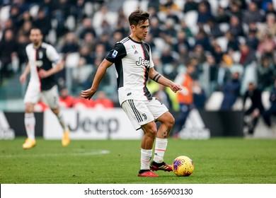 Turin, Italy. 16/02/2020. Italian Serie A Soccer Championship. Juventus vs Brescia 2-0. Paulo Dybala, Juventus.