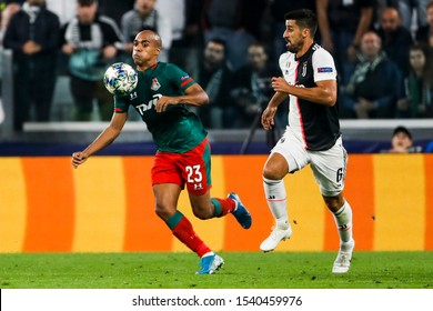 Turin, Italy. 22 October 2019. UEFA Champions League, Juventus vs Lokomotiv Moscow 2-1. Joao Mario, Lokomotiv Moscow.