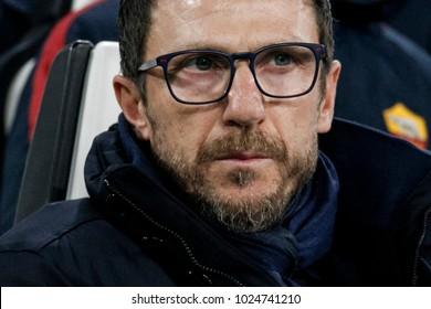 Turin, Italy. 23 December 2017. Campionato Italiano di SerieA, Juventus vs Roma 1-0. Eusebio Di Francesco, coach Roma.