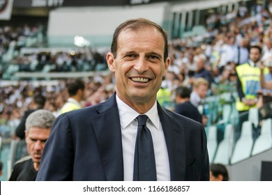 Turin, Italy. 25 August 2018. Campionato Italiano di SerieA, Juventus vs Lazio 2-0. Massimiliano Allegri, coach Juventus.