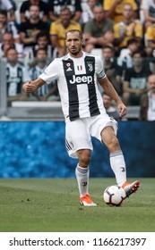 Turin, Italy. 25 August 2018. Campionato Italiano di SerieA, Juventus vs Lazio 2-0. Giorgio Chiellini, Juventus.