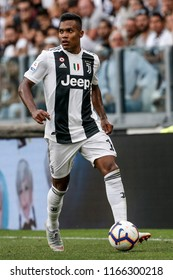 Turin, Italy. 25 August 2018. Campionato Italiano di SerieA, Juventus vs Lazio 2-0. Alex Sandro, Juventus.