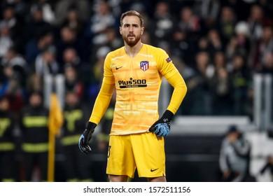 Turin, Italy. 26 November 2019. UEFA Champions League, Juventus vs Atletico Madrid 1-0. Jan Oblak, goalkeeper Atletico Madrid.