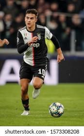 Turin, Italy. 26 November 2019. UEFA Champions League, Juventus vs Atletico Madrid 1-0. Paulo Dybala, Juventus.