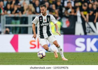 Turin, Italy. 29-09-2019. Campionato Italiano Serie A. Juventus vs Napoli 3-1. Miralem Pjanic, Juventus.