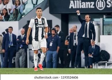 Turin, Italy. 29-09-2019. Campionato Italiano Serie A. Juventus vs Napoli 3-1. Cristiano Ronaldo, Juventus.