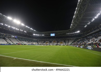 Turin, Italy 6 october, 2016: Juventus stadium  for match European Qualifiers Russian World Cup 2018  between Italy vs Spain in Juventus  stadium in Turin on October 2016.
