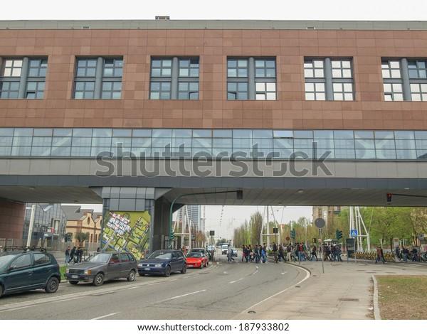 TURIN, ITALY - APRIL 03, 2014: The Turin Polytechnic school buildings aka Politecnico di Torino