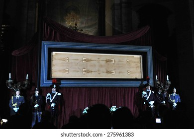 TURIN, ITALY - APRIL 18: Exposition of the Holy Shroud, on April 18, 2015 in Turin, Italy