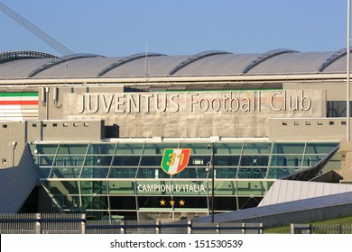TURIN, ITALY - AUGUST 15: Juventus Stadium on August 15, 2013 in Turin, Italy. Juventus stadium is home of Juventus football club.